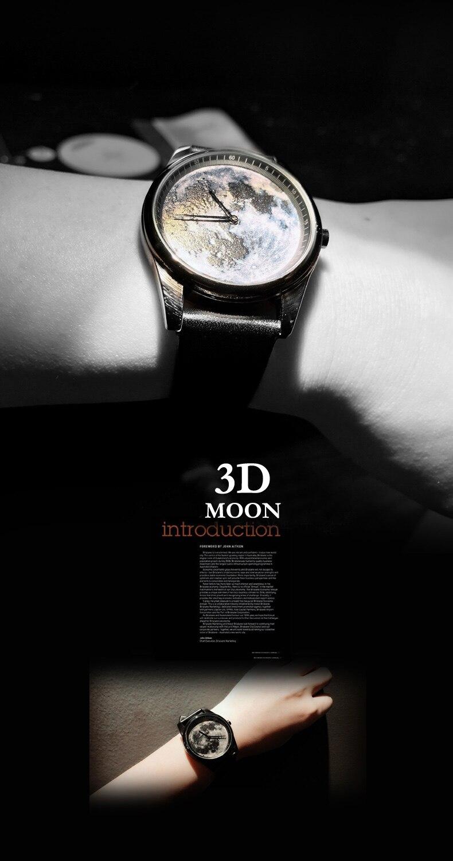 MOON fashion wristwatch