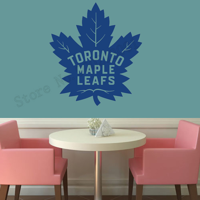 d74966a65c1 Toronto Maple Leafs Wall Decoration Vinyl Art Removeable Poster Beauty  Bedroom Decor Modern Ornament LY982-in Wall Stickers from Home   Garden on  ...