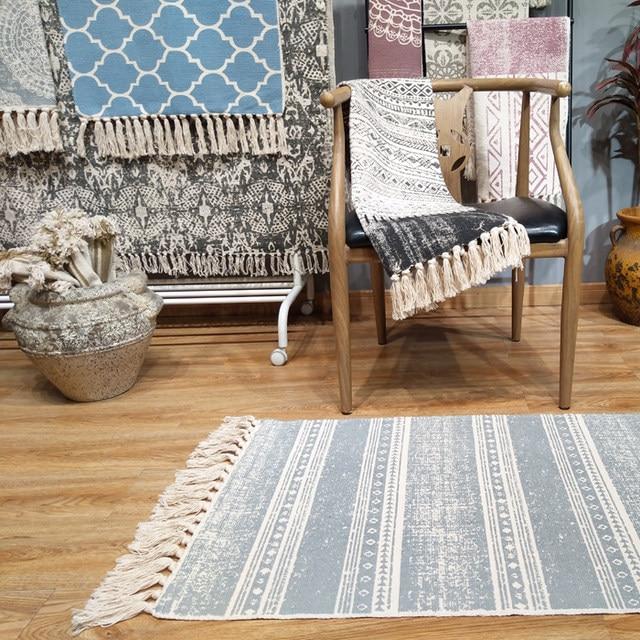 Tienda Online Kilim vintage azul nuevo salón 100% algodón Alfombras ...