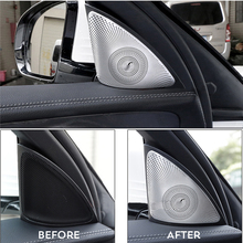 Car styling For Mercedes Benz New E class W213 2016 2017 Door Stereo Speaker decoration decals auto Tweeter trim strips covers