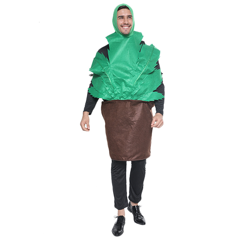 Adult Cartoon Cactus Potted Plant Role Playing Halloween Fancy Cosplay Carnival Costume For Man on AliExpress