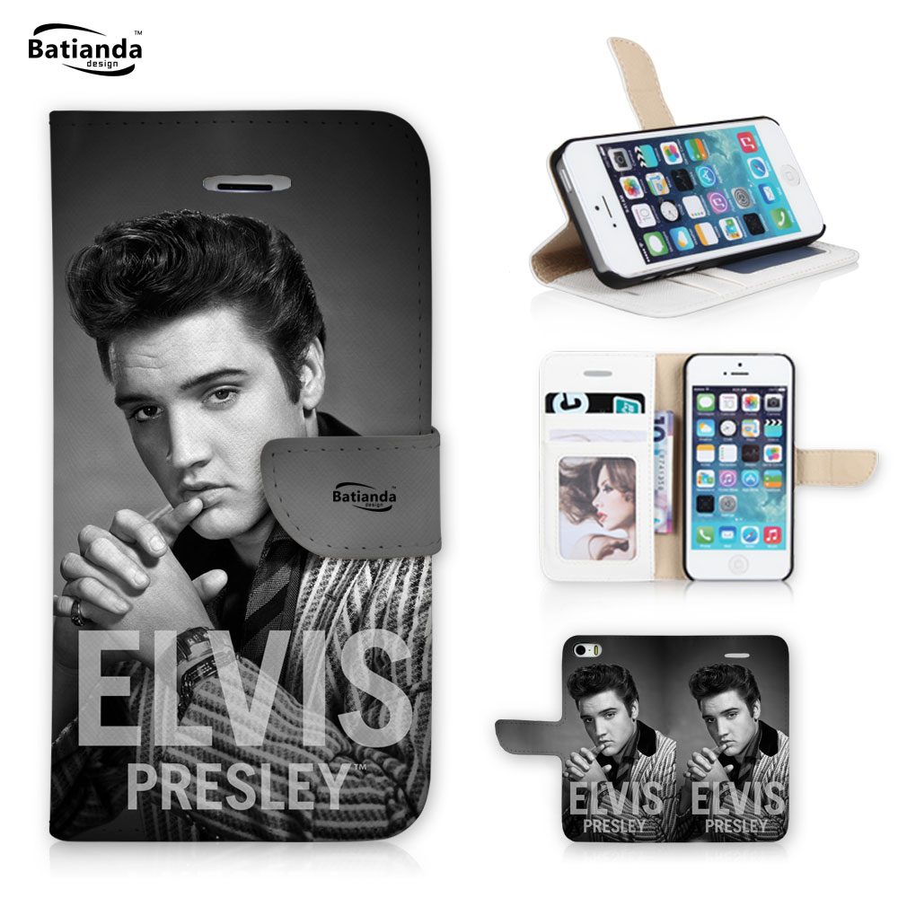 For iPhone 6 plus Case Elvis Presley Pattern Leather Phone ...