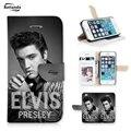 Para iphone 6 plus caso elvis presley padrão de couro caso de telefone para casos de apple iphone 6 s plus estilo carteira tampa do suporte da aleta