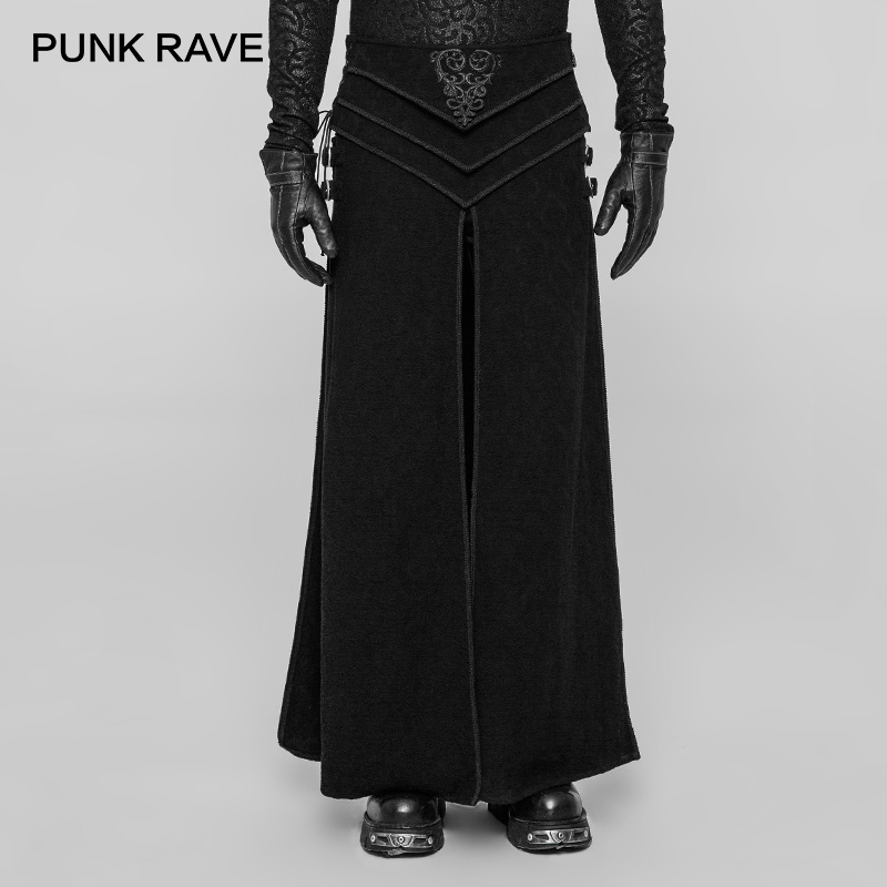 PUNK RAVE Men Gothic Party Skirt Steampunk Retro Palace Skirt Christmas Men's Scotland Skirt Victorian Style Fashion Skirt Pants