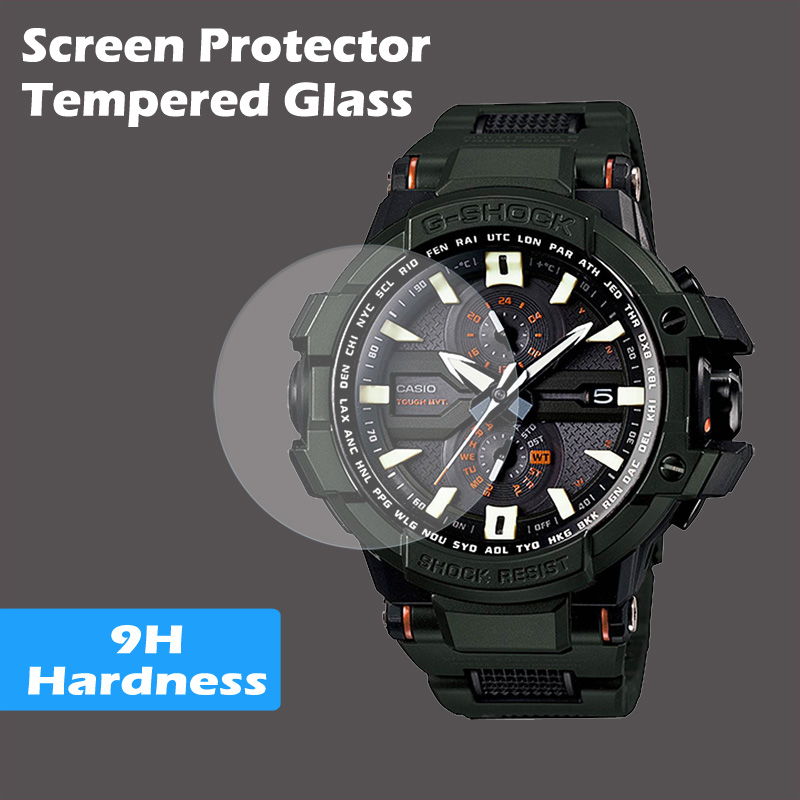 Screen Protector Tempered Glass For Casio watch g shock protrek EDIFICE g-shock baby-g Flat Glass Screen Protector