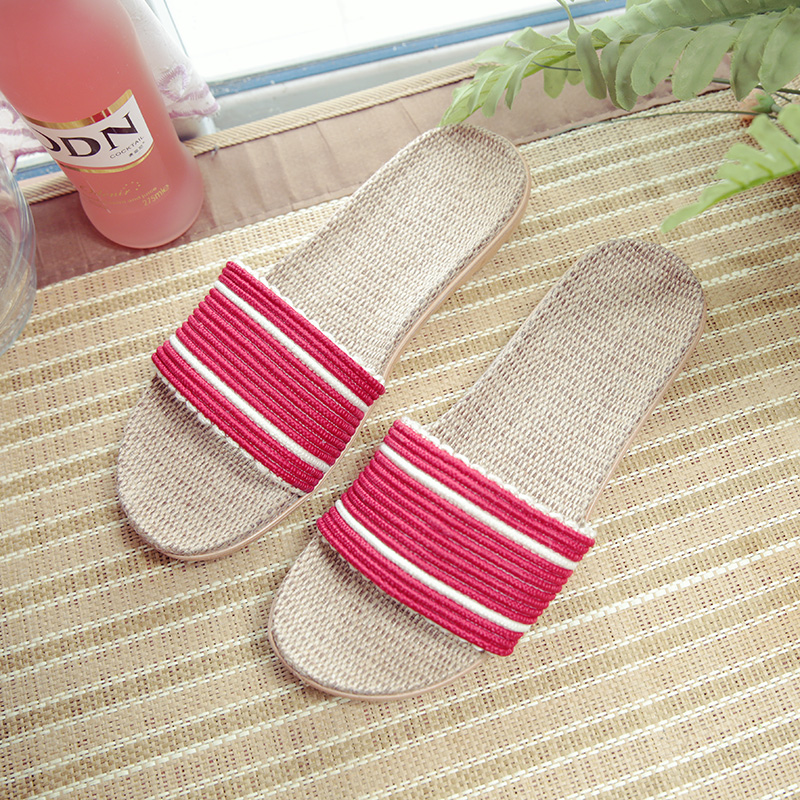 весенне-летние домашние тапочки, нескользящая льняная домашняя обувь, женская и мужская обувь на плоской подошве, впитывающие пот, дышащие мягкие тапочки