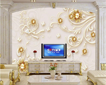 beibehang Interior decoration wallpaper 3D personalized relief pearl butterfly European style wall papel de parede 3d