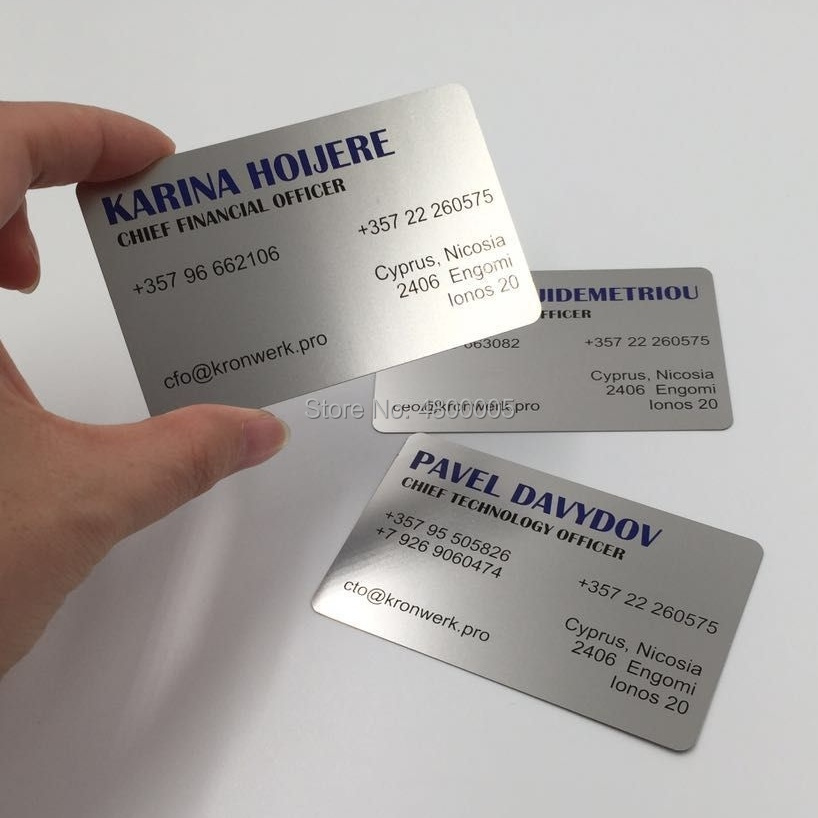 (150pcs/lot)Custom Metal Business Card And Stainless Steel Name Card