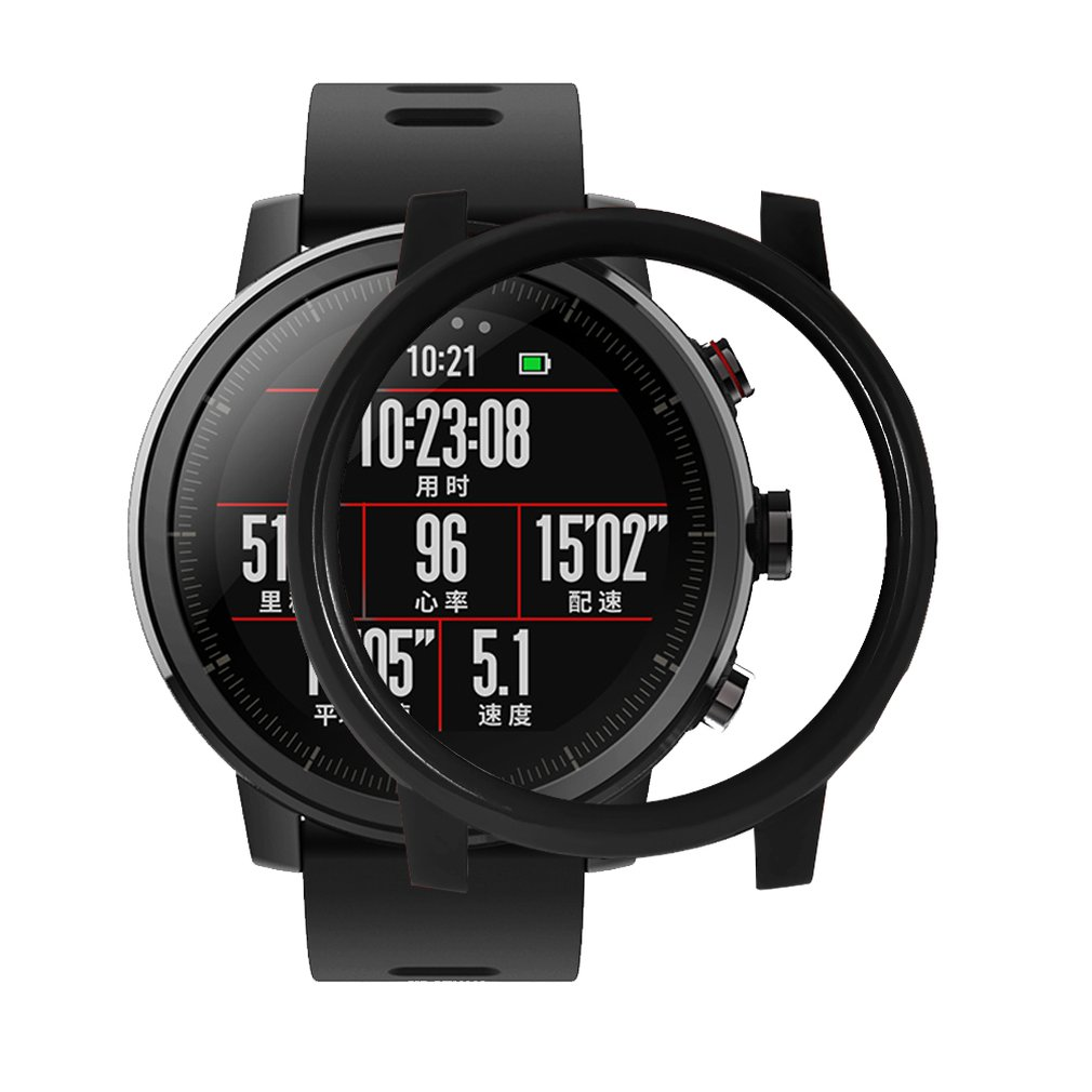 Watches Screen Protector Shell Amazfit 2/2s Stratos Full Frame Pc Protective Case For Amazfit 2 Stratos Watch Be Shrewd In Money Matters