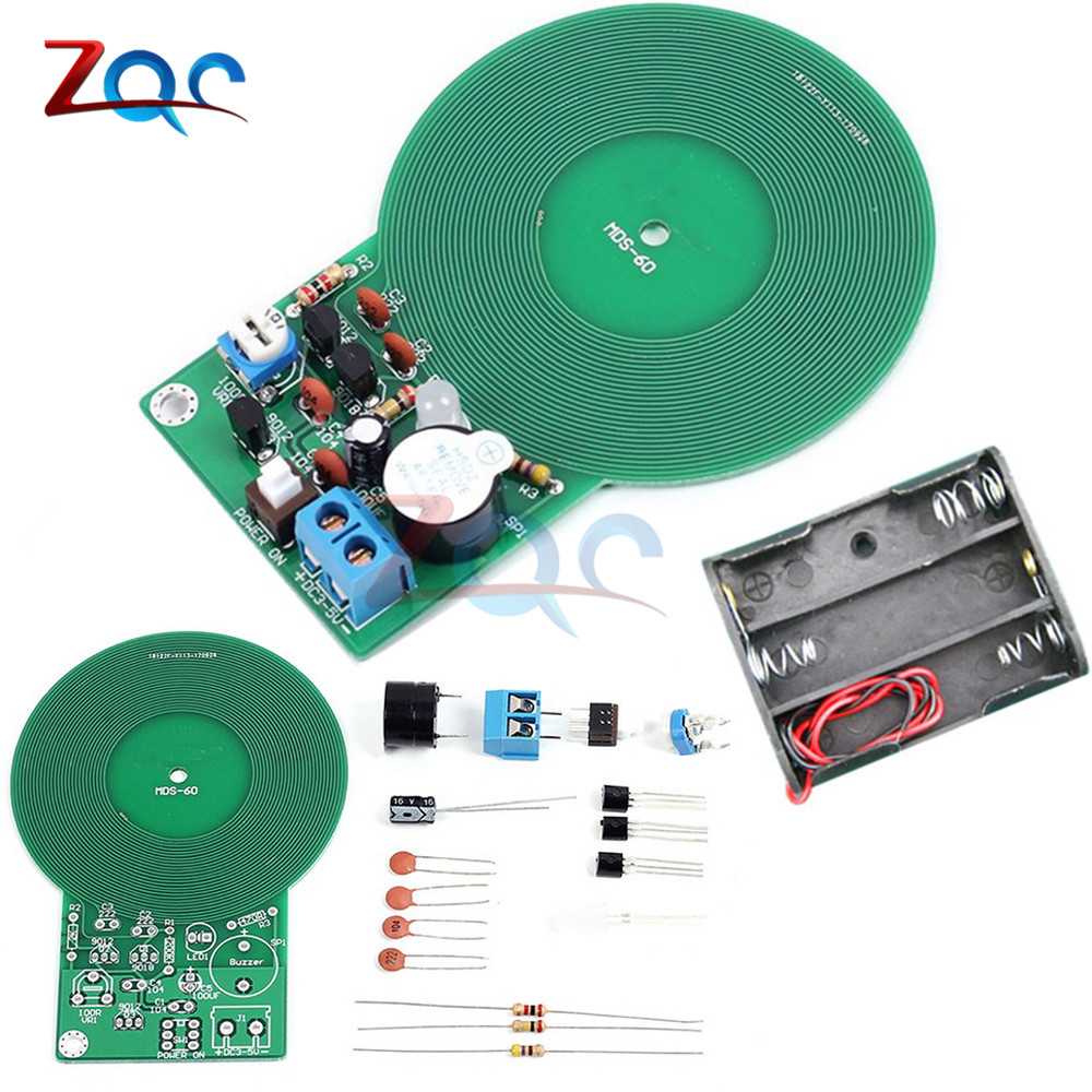 DIY Kit Metal Detector Kit Electronic Kit DC 3V-5V 60mm Non-contact Sensor Board Module Electronic Part With Battery case welding practice model simple metal detector electronic production parts board kit diy metal detector