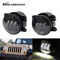 MALUOKASA Car 4 30W LED Turn Signal Fog Light Kit For JEEP Wrangler 2007 2014 Rubicon
