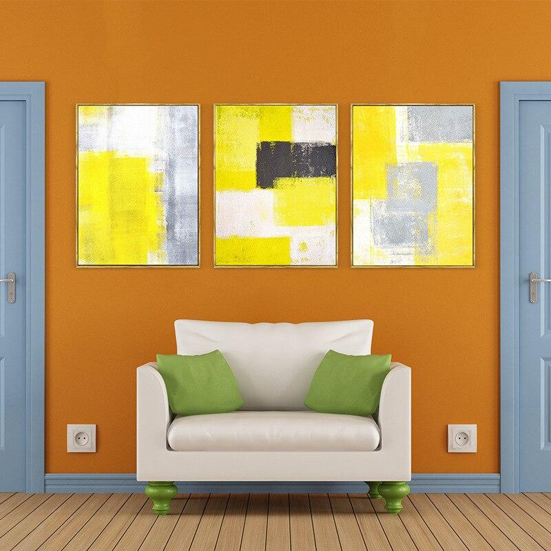 Ձեռքով նկարված պատի արվեստի դեղին - Տնային դեկոր - Լուսանկար 3