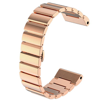 Bolisi GD10 26mm Stainless Steel Metal Replacement Link Bracelet With Double Button Folding Clasp For Garmin
