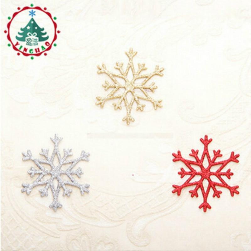 Adornos Navidad 2018 Navidad 7X8cm Artificial Snow &Snowflakes Christams Decations For Home Christmas Tree Ornaments