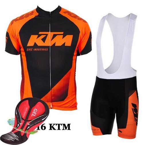 KTM Ropa Ciclismo Équipe Équitation Vélo Jersey Vêtements de Cyclisme VTT Vélo Jersey Cuissard Set Équipement De Vélos Vêtements Bike Wear