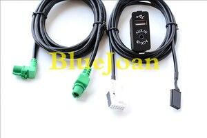 Image 1 - Free shipping BlueJoan GPS Navigation cable USB AUX in Plug Socket Harness Adapter for BMW E39 E46 E38 E53 X5 Z4 E70 Car radio