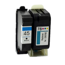 2PK Ink Cartridges For HP 45 51645A For HP 78 6578D For HP Photosmart P1000 P1100 P1218 P1215 For HP Color Copier 110 170 290(China)