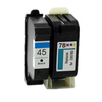 2PK Inkjet Printer Cartridge For HP45 78 For HP Photosmart 1000 1215 For HP Color Copier