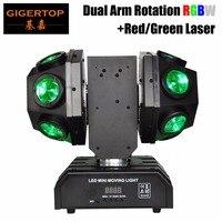 TIPTOP Высокое качество 12x10 Вт Супер луча Moving Head лазерный свет с двойной мяч/150 Вт RGBW перемещение лазерной головки свет