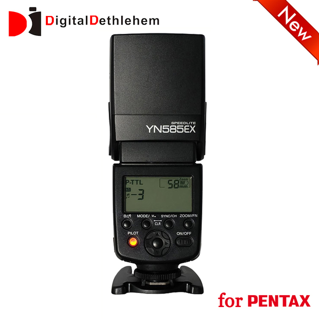 YONGNUO TTL Wireless Sync Flash Speedlite for Pextax P-TTL DSLR M Multi Slave GN58 Fast Charge Recycle AF Assist Beam YN585EX