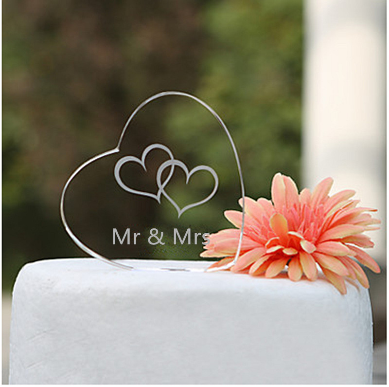 2017 New Design Transparent Acrylic Mr & Mrs Wedding Cake Topper Hearts Crystal Bridal Shower / Anniversary / Wedding Decoration2017 New Design Transparent Acrylic Mr & Mrs Wedding Cake Topper Hearts Crystal Bridal Shower / Anniversary / Wedding Decoration