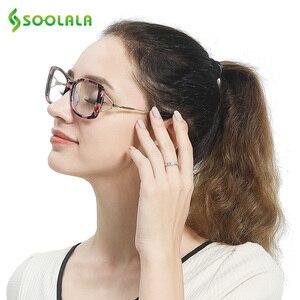 Image 5 - SOOLALA مربع نظارات للقراءة إمرأة رجل كبير إطار نظارات الموضة إطار مكبرة قصر النظر الشيخوخي نظارات + 0.5 إلى 4.0