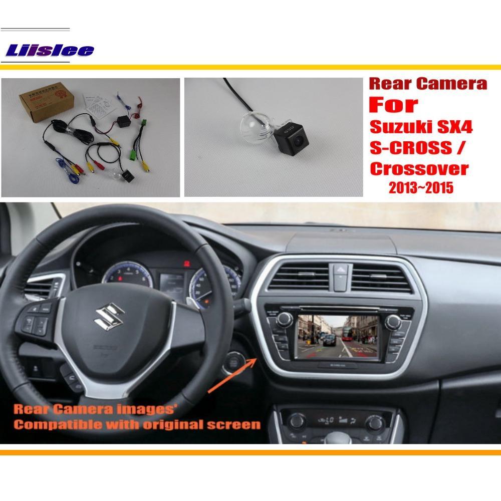Liislee Back Up Reverse Kamera Sats För Suzuki SX4 S-CROSS / Crossover 2013 ~ 2015 / RCA & Original Skärmskompatibel