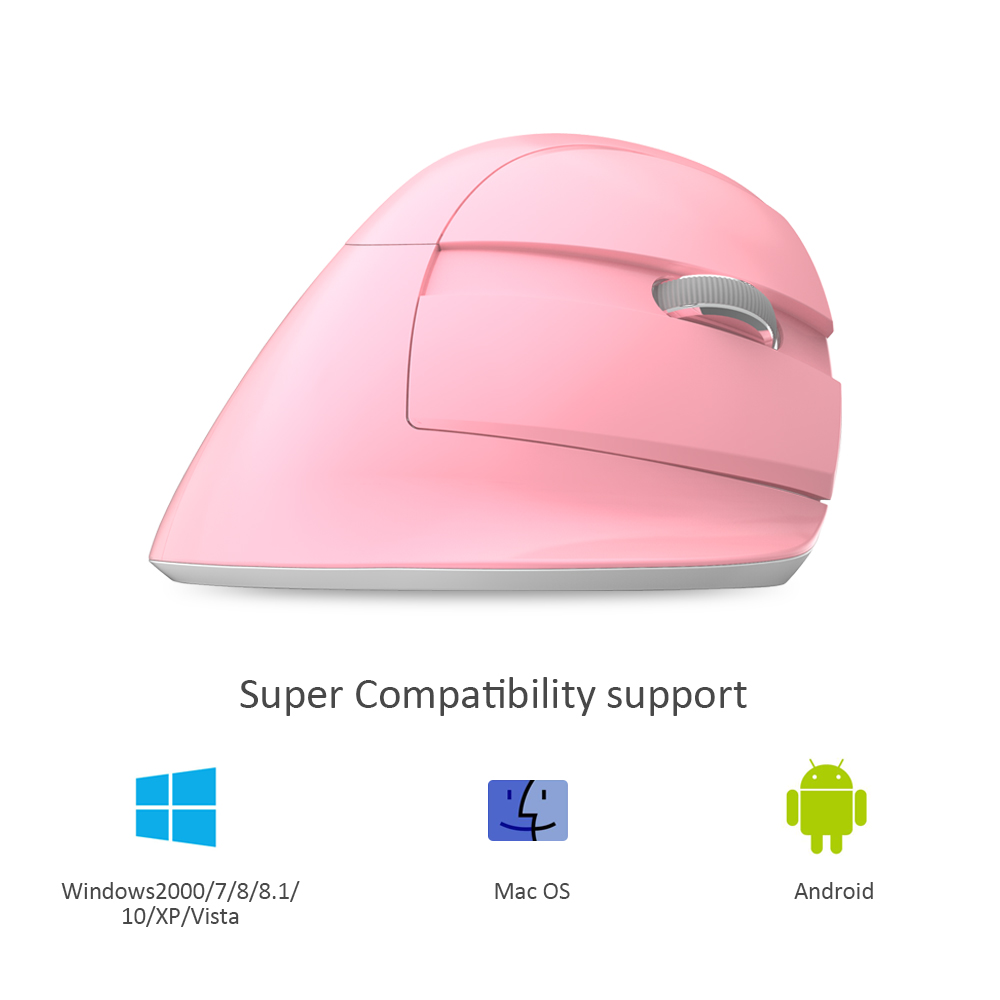 Image 5 - Delux M618 Mini Ergonomic Gaming Wireless Mouse Vertical Mouse Bluetooth 2.4GHz  Rechargeable Silent click Mice for Office-in Mice from Computer & Office