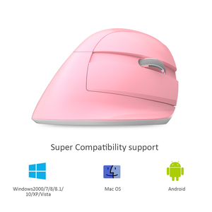 Image 5 - Delux M618 Mini Ergonomic Gaming Wireless Mouse Vertical Mouse Bluetooth 2.4GHz  Rechargeable Silent click Mice for Office