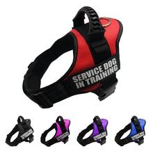 Pet Harnesses For Dogs Reflective Adjustable Dog Harness Vest Collar Husky Shepherd Small Medium Large Supplies