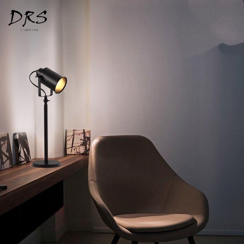 Современные Простые креативные настольные лампы железные черные настольные лампы Гостиная Спальня Обучающие светодио дный фонари домашние осветительное оборудование - 2