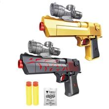 Пластмассовые игрушки пистолет с мягкими пулями присоска Пейнтбол пустыня Орел водный гель мяч пистолет игрушка для игр на открытом воздухе для детей Подарки для мальчиков