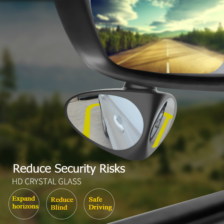2 In 1 360 Degree Rotatable Side Car Blind Spot Convex Mirror Automibile Exterior Rear View Parking Safety Accessories