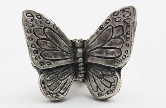 Butterfly Knobs Dresser Pulls Drawer Pull Handles Antique Silver Kitchen Cabinet Handles Pulls Knobs Door Handle Vintage