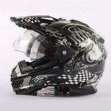 Дизайн бренда THH бездорожью мотокросс шлемы casco capacetes Мотоциклетный шлем с двумя объективами Новый череп шлемы