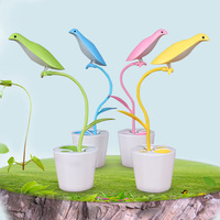 Eye Protection Bird LED Reading Desk Lamp USB Rechargeable Book Light 18650 Dimmable Touch Table Lamp with Pen Container