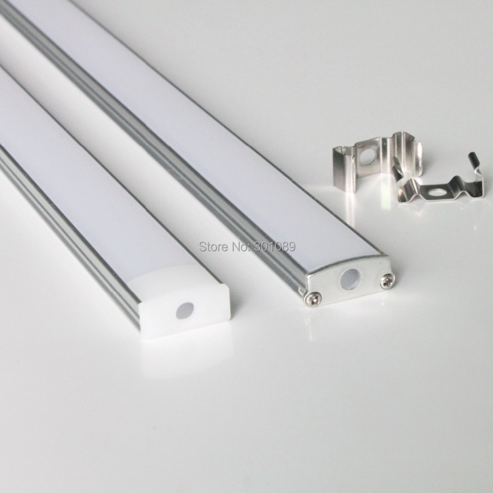 20m 20pcs a lot 1m per piece led aluminum profile for led strips with milky diffuse