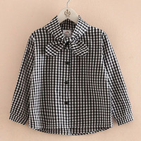 Teenage Baby Girls Shirts 2017 Kids Baby Boy Clothes Spring Autumn Plaid Blouse Shirt Kids Cotton