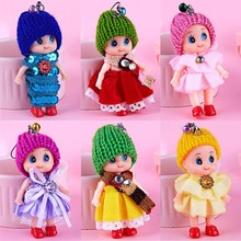 1PCS Random Colorful Mini Skirt Doll Pendant Cute Romantic Hat Clown Doll Mobile Phone Keyring For Girls Children Party Gifts