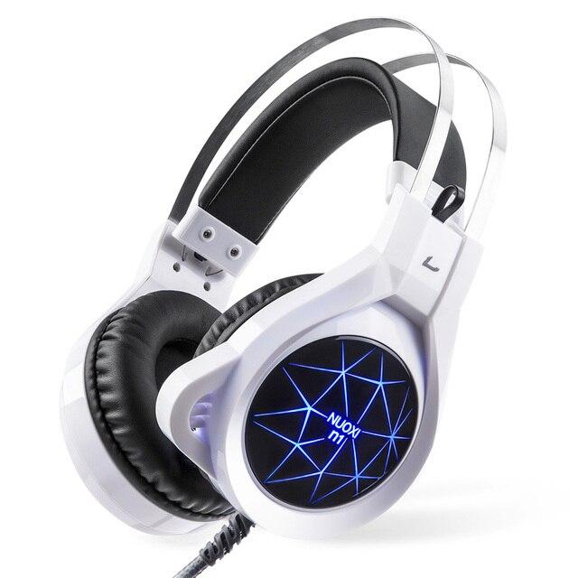 Новый Супер СВЕТОДИОДНОЙ Подсветкой Gaming Наушники Глубокий Бас Удобные Компьютерные Игры Гарнитура с 3.5 мм Наушники Микрофоны