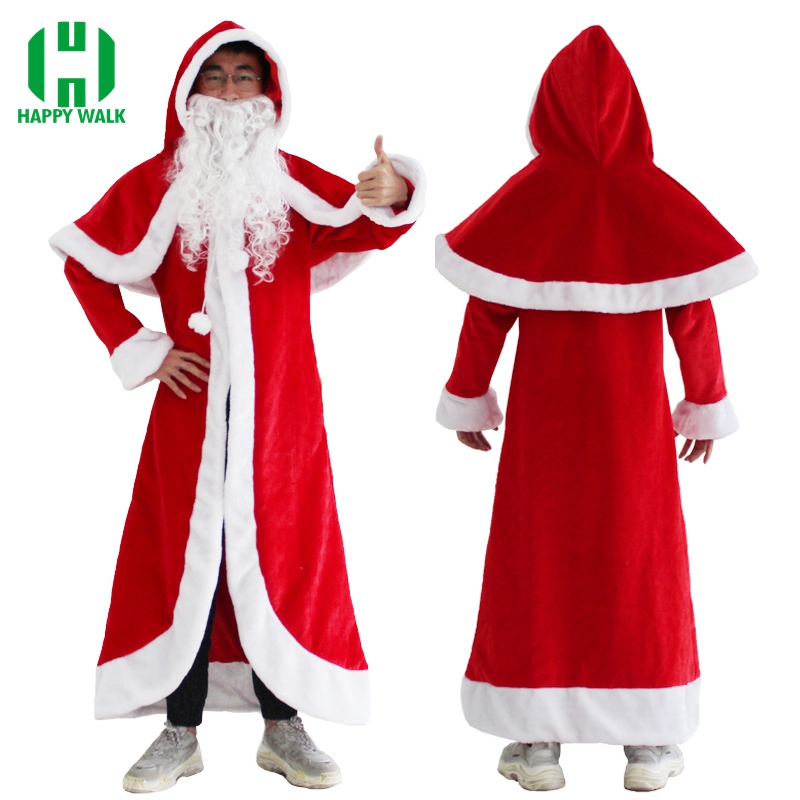 Russia Christmas Santa Claus Costume Ded Moroz Snow Maiden Costume Old Man Frost Fancy Dress Snegurochka Costume Suit For Adults