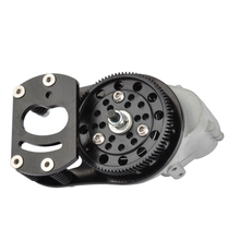 RC 1/10 Metal Transmission With Case Motor Gear And Mount Holder for 1/10 RC Crawler AXIAL SCX10 AX10 D90 D110 90046 LC80 1 10 rc crawler car transmission case center gearbox gear for axial scx10