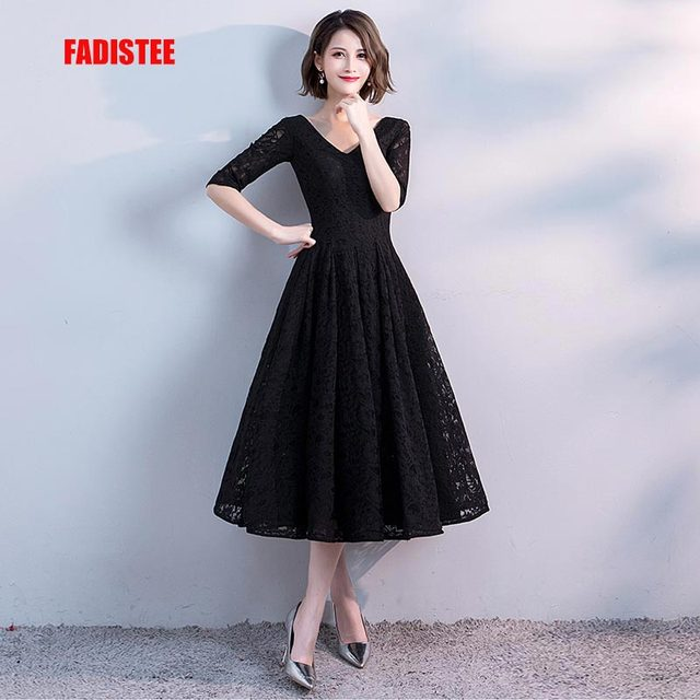 3553c44b9fd18 FADISTEE New arrival elegant party dress evening dresses little black dresses  lace prom frock gown half