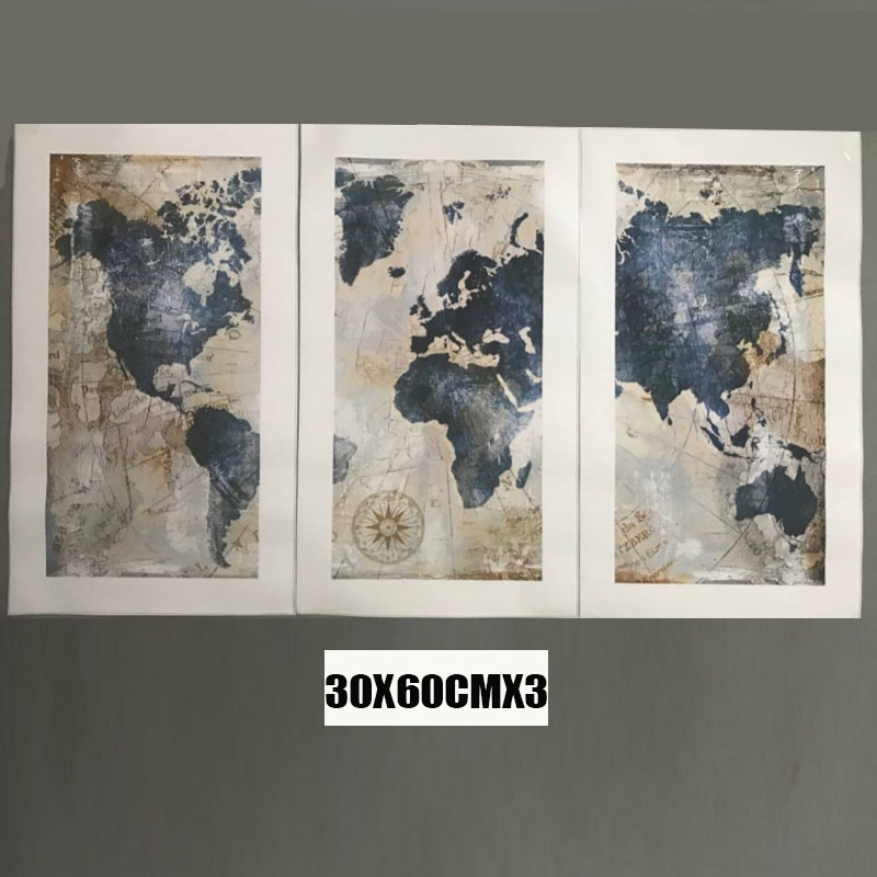 HTB19FC2XVkoBKNjSZFkq6z4tFXa0 3Panel Watercolor World Map Modular Painting Posters and Prints on Canvas Scandinavian Cuadros Wall Art Picture For Living Room