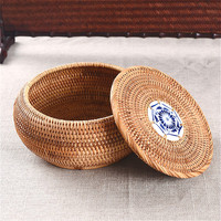 Box High Grade Akito Rattan Tea Box High End Gift Box Handicraft Basket Storage Box