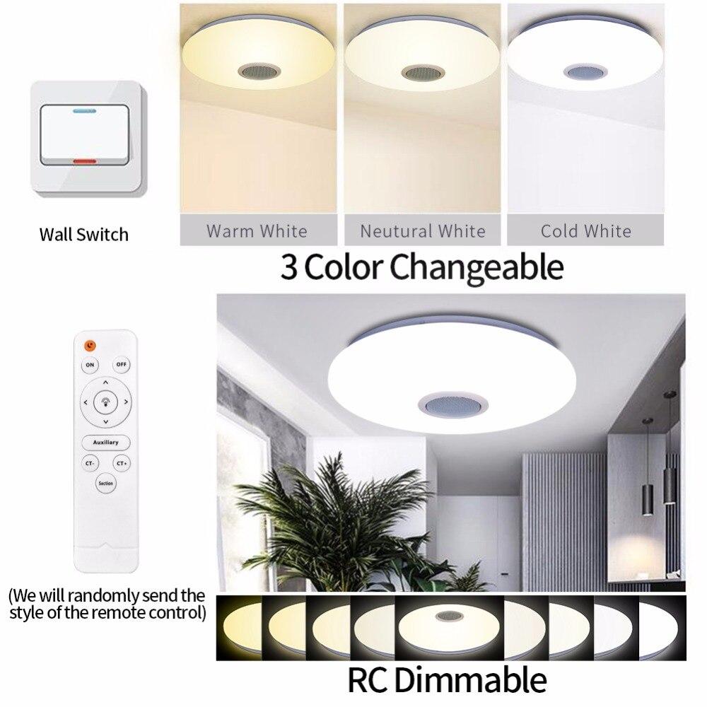 LED Decke Licht Bluetooth und Musik mit bunten und dimmer RGB Decke Licht Fernbedienung für wohnzimmer und schlafzimmer