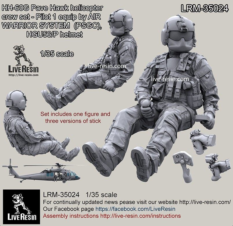 1/35 Resin Figure Modern American Army Driver Resin Soldier Lrm-35024