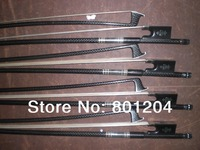 10 PCs Strong Carbon Fiber Violin bow 4/4 1007#, Cooper amounted Ebony Frog 4/4