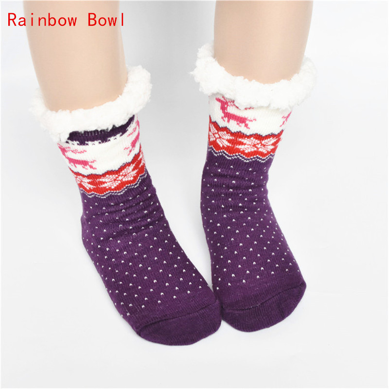 Rainbow Bowl 2017 New Super  Winter Home Slippers Women Shoes Floor Slippers Plush Soft Cotton Indoor Shoes Home Bedroom  Shoes foster big bowl soft 873x513 1l