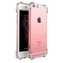 2018 For Iphone 7 7plus 6 S 6s 6plus 8 8plus X 5s Original Shockproof 360 Silicone Tpu Transparent Phone Case Fundas